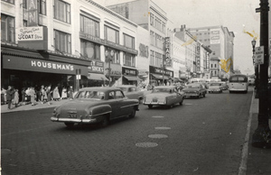 Downtown Grand Rapids street scene ca. 1950s (Kenneth Curtis Welch, Box 13, Central Business District via bently.umich.edu)